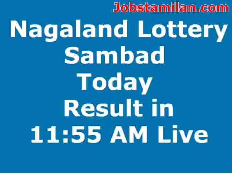 Nagaland Lottery Sambad Today Result in 11:55 AM Live
